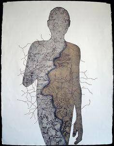 Unfinished Untitled Collagraph artist patrick boehner