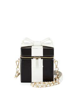 Alice + Olivia Present Box Leather Shoulder Bag
