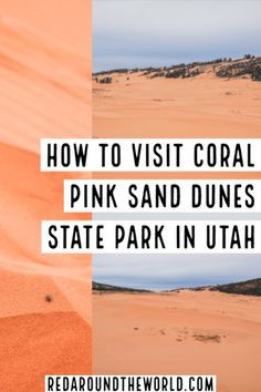 Stop by Coral Pink Sand Dunes State Park near Kanab Utah on your next road trip in Southern Utah and climb the red dunes for an afternoon of fun. Oklahoma, Wisconsin, Pink Sand, Coral Pink, Alabama, Mojave National Preserve, Kanab Utah, Minnesota, Utah Vacation