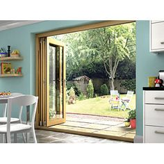 Genial Wickes Isaac Oak Veneer Bi Fold Door 6ft Wide. Folding Patio Doors