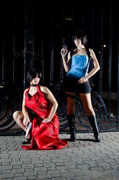 Ada Wong and Jill Valentine by selenevamp & SophieHarunoChan1992