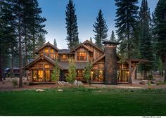 Mountain home featuring stunning exterior reclaimed wood built by NSM Construction in Martis Camp, Truckee.