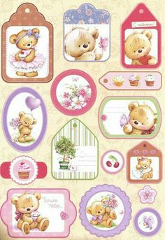 Baby Scrapbook, Scrapbook Paper, Cute Pictures To Draw, Fizzy Moon, Diy And Crafts, Paper Crafts, Tatty Teddy, Teddy Bear, Printable Paper