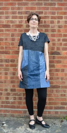 The Essential Denim Dress – MULTISIZE SEWING PATTERN – Sew Different