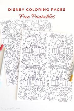 Free Disney Coloring Pages — Liz on Call Easy Diy Projects, Craft Tutorials, Free Disney Coloring Pages, Alice In Wonderland Clipart, Disney Planner, Disney Colors, Disney Tips, Disney Crafts, Love Is Free
