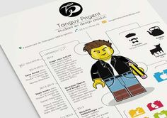 A Lego CV by a French Product Design student