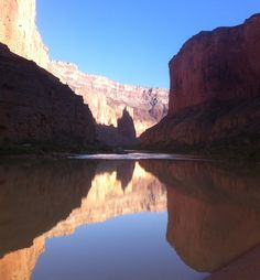 2014 Hatch Expedition rafting Colorado River thru Grand Canyon - reflections