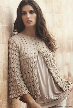 Patrones y moldes de saco de dama tricot