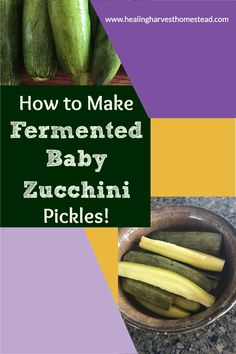 Have too much zucchini and you're not sure what to do with it all? Well, here is a great way to use some of it up: Make some fermented zucchini pickles! They are a healthy and delicious summer treat. These are wonderful for snacking or adding to burgers and summer BBQ's. They store for a long time, too. Here's my recipe for fermenting zucchini you'll love! #zucchini #fermented #pickles #zucchinipickles #howtoferment #fermentation #lacto-fermentation #summergarnish #condiment