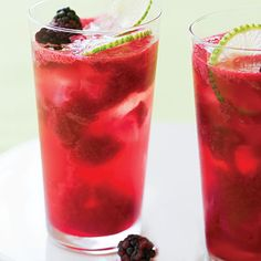 This is our summer go-to drink! Blackberry Lime Rickeys 2 cups fresh blackberries, divided cup superfine or granulated sugar cup fresh lime juice 1 cup gin Ice cubes 1 bottle liter) sparkling water 6 to 12 very thin lime slices Mixed Drinks, Fun Drinks, Beverages, Drinks Alcohol, Party Drinks, Alcoholic Drinks, Lime Rickey Recipe, Slice Of Lime, Fresh Lime Juice