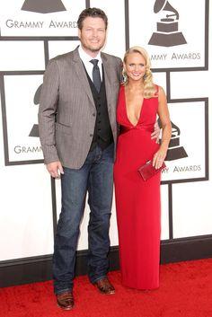 #GRAMMYs #STYLAMERICAN - Blake Shelton and Miranda Lambert at the 2014 Grammy Awards