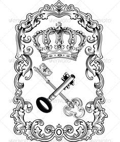 Royal crown with keys