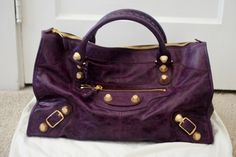 Purple Balenciaga with Gold Hardware l wantering.com