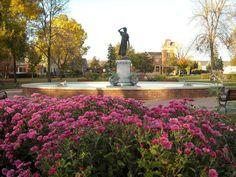 Home. Princess Wenonah Fountain in Windom Park. WInona, MN