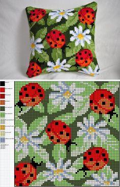 Lady Bugs embroidery pattern