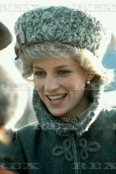 March 5, 1985: Princess Diana at the King's Troop Royal Horse Artilery, St John's Wood, London.