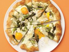 Asparagus, Ricotta, and Egg Pizza   While our pizzas run the gamut when it comes to tasty toppings, one thing they all have in common is how quickly they will disappear. Some of these healthy pizza recipes are made for splashy dinner party features; other