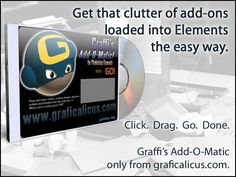 SJust became FREE! The Legacy Edition Add-O-Matic for Photoshop Elements 6 - 9! #addomatic