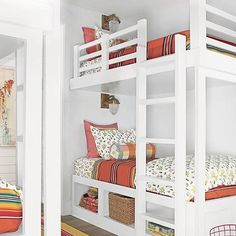 #FBF to the @coastal_living show house @baileyquin designed. The bunk rooms featured the Marfa print