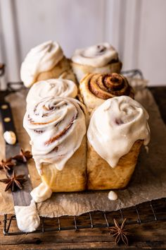 Overnight Cinnamon Roll Bread with Chai Frosting. - - Overnight Cinnamon Roll Bread with Chai Frosting. Turning your rolls into a beautiful bread keeps things simple and easy, yet every bite is still delicious! Breakfast Recipes, Dessert Recipes, Desserts, Drink Recipes, Cake Recipes, Cinnamon Roll Bread, Half Baked Harvest, Special Recipes, Baking Recipes