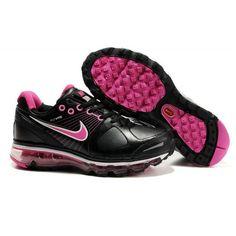 sports shoes 07512 0ebf0 Femme Nike Air Max 2009 Leather Noir Rose88,98€ Air Max Women,