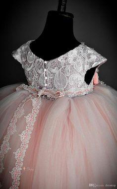 New Arrival Lace Flower Girls Dresses A Line Jewel Neckline Floor Length Pearls Little Girl Pageant Dress For Wedding Flower Dress Girl Flower Girl Dreses From Dresstop, $100.26| Dhgate.Com