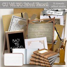 CU vol 270 School Elements by Florju Designs #CUdigitals cudigitals.com cu commercial digital scrap #digiscrap scrapbook graphics