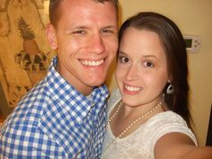 Here we have David and Meghan. They are next in the family line up. Married for just over a year and a half they live and go to school in sunny Florida. Love ya both tons!!