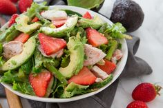 Make and share this Chicken and Asparagus Salad with Strawberry Dressing recipe from Food.com.