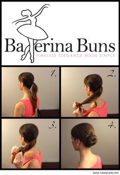 How to create the perfect hair bun with Ballerina Buns product - No bobby pins needed