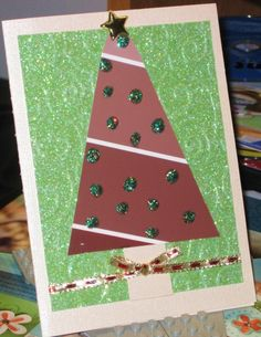 Paintchip Christmas card - easy card for daycare children to make