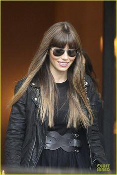 jessica biel bangs long hair,  Go To www.likegossip.com to get more Gossip News!