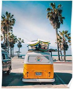Combi van surf Poster