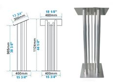 Standard Podium Dimensions   Lecterns and Podiums made with aluminum truss. Large selection of ...