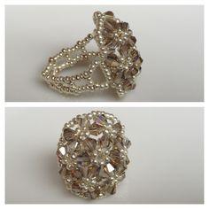 Swarovski Crystal Seed Bead Ring - Yuki's Rings