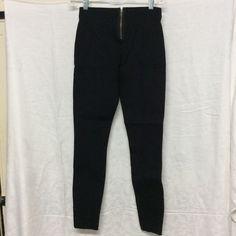 J Crew thick zippered leggings 00S (ponte?) (pair) Zipper in back, NWOT, tough 00S J. Crew Pants Leggings