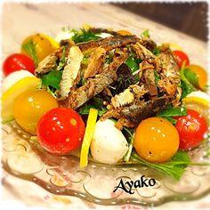 さっぱりしたサラダです♡ ドレッシングに醤油を加えても、美味しいですよ - 163件のもぐもぐ - いわしレモンスープのサラダ by ayako1015
