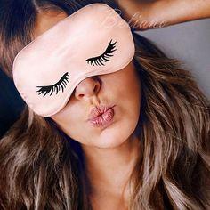 Natural Silk Eyelashes Silk Eye Sleep Mask, Natural Pink Silk Sleep Mask, Natural Organic Eye Mask Sleep, 100% Real Silk Sleepmask for Eyes