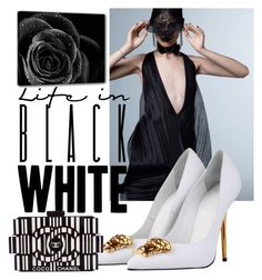 """B&W"" by cyndielee on Polyvore featuring Versace and Chanel"
