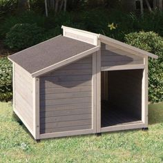 Found it at Wayfair - Outback Bungalow Dog House Puppy Obedience Training, Basic Dog Training, Training Dogs, Dog Houses, Plastic Dog House, Wood Dog House, Building A Treehouse, Dog Pen, Dogue De Bordeaux