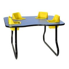 Toddler Tables Kid's Space Saver Table Seat Color: Red, Table Top Color: Yellow