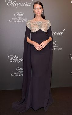 """Adriana Lima Photos Photos - Adriana Lima attends the Chopard """"SPACE Party"""", hosted by Chopard's co-president Caroline Scheufele and Rihanna, at Port Canto on May in Cannes, France. - Chopard Space Party - Photocall - The Cannes Film Festival Estilo Adriana Lima, Adriana Lima Style, Ellie Saab, Beautiful Dresses, Nice Dresses, Dolce & Gabbana, Tom Ford, Red Carpet Event, Glamour"""