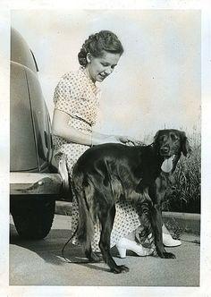 *Forgotten photo...girl & her dog