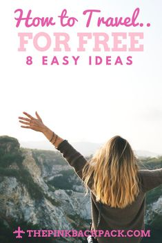 Travel doesn't have to be expensive. Learn how to travel for free (or next to nothing) with these 8 ideas! Perfect for students or new grads! Travel Guides, Travel Tips, Travel Hacks, Budget Travel, Travel Info, Solo Travel, Another A, Working Holidays, Student Travel