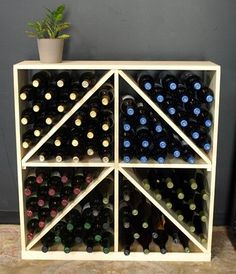 """Wooden 96 Wine Bottle Solid Diamond Bin Wine Rack Storage Kit (Ponderosa Pine) by Wine Racks America®. $210.84. With same day free shipping, this value can't be beat. Dimensions: 35 3/4""""(h) x 34 7/8""""(w) x 9 11/16""""(d). Constructed of Furniture Grade Ponderosa Pine. Simple Assembly May be Required. Proudly Made in the USA. Lifetime Warranty.. Capacity: 96 Wine Bottles and Fits all 750ml and 1.5L bottles. This solid wooden wine cube is a perfect alternative to c..."""
