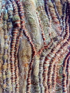 Image result for rust and eco dyed fibre with freeform embroidery