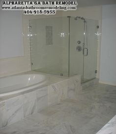 Marble Bathroom Remodeling in Alpharetta GA 404-918-5955