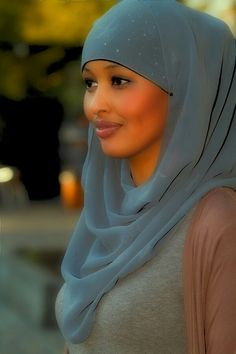Muslim Woman...The beauty in a Hijab...her skin is flawless!