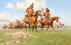 FRANK MCCARTHY (1924-2002) Moving Camp oil on canvas