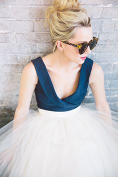 blue bodice, tulle skirt